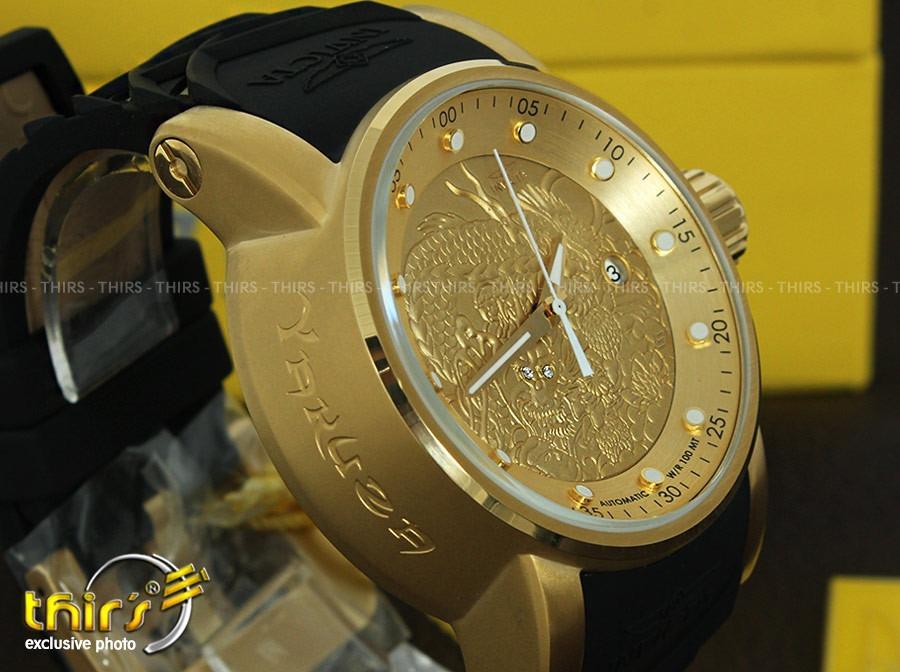 2fb594a0f71 invicta s1 yakuza 15863 automatico banhado ouro 18k. Carregando zoom.