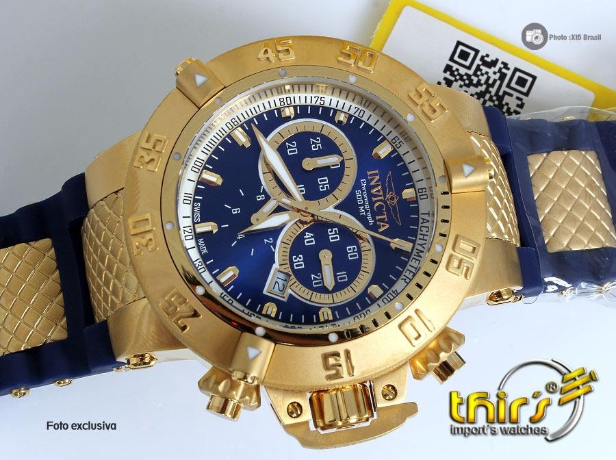 709818a1251 Invicta Subaqua 5515 Azul Raro 18k - C  Maleta Promoção - R  1.890 ...