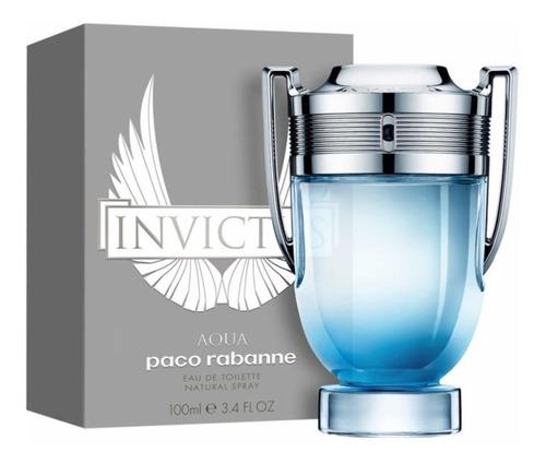 invictus aqua edt paco rabanne perfume masculino 100ml