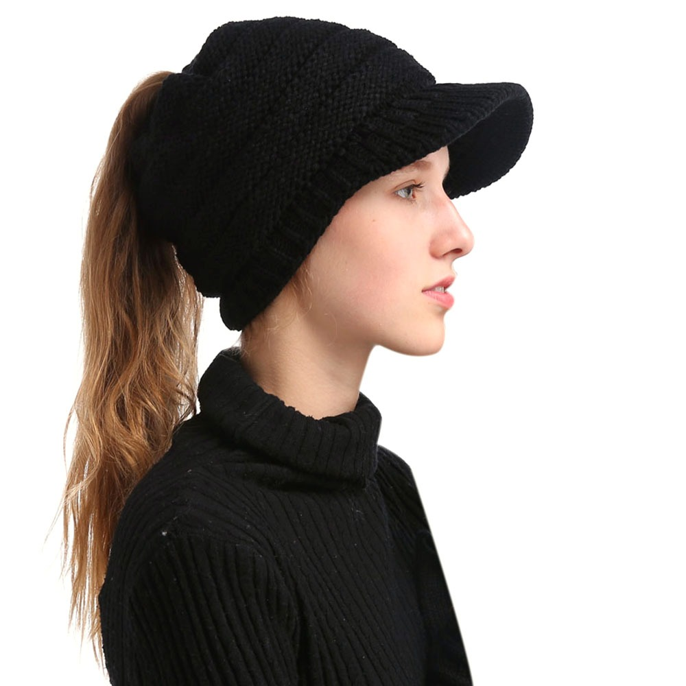 Invierno Mujer Chica Suave C lido De Punto Espesar Sombrero ... 3557e07ae22