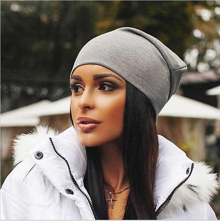 457732beff436 Invierno Sombreros Para Mujeres Gorros Algodón Blended Cade ...