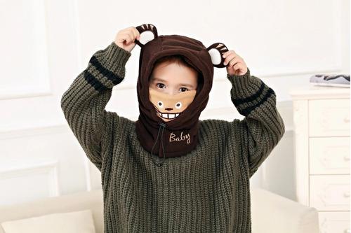 Invierno Suave Caliente Sombreros Para Bebé Lana Tigre Bean ... d68ad5c75c3