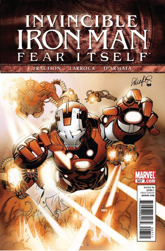 invincible iron man # 6 -fraction - larroca- novedad -inglés