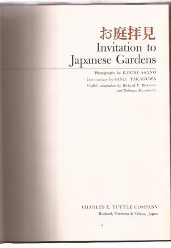 invitación a los jardines japoneses inglés ilustrado color