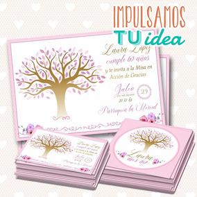 Invitación árbol De La Vida Tarjetita Souvenir Imprimible