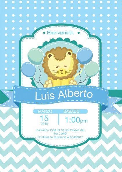 f8cc7831e6b5c Invitación Baby Shower - 3 Años Niño Niña Personalizadas -   8.99 en ...