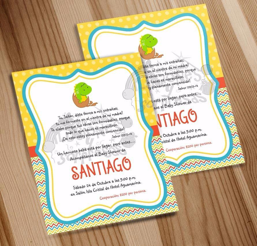 Baby Shower Por Temas ~ Invitacion imprimible baby shower niño tema dinosaurios