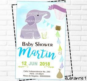 Invitaciones Baby Shower Nino Elefante Invitaciones Para Fiestas