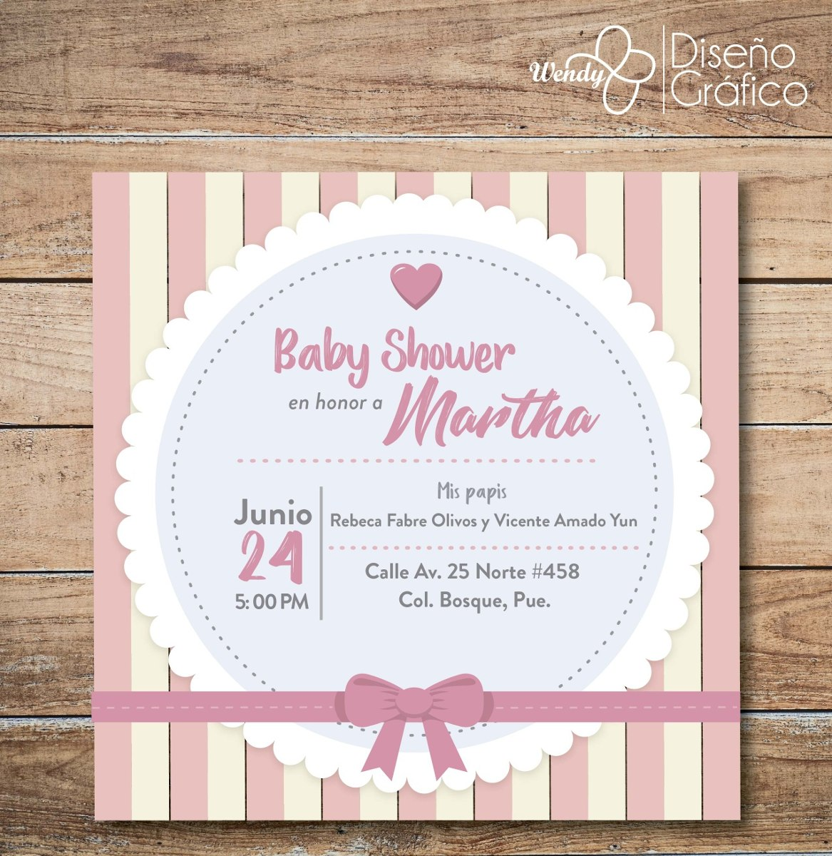 Invitación Baby Shower Niña 1200 En Mercado Libre