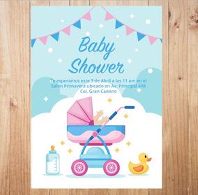 Carreola De Lujo Rosa Invitaciones Y Tarjetas Baby Shower