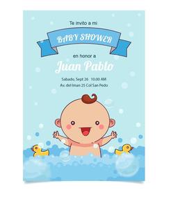 Invitación Baby Shower Niño Niña Personalizadas Patitos