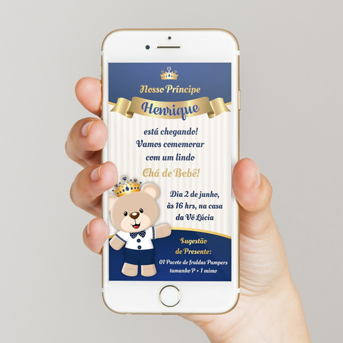 invitación baby shower tarjeta digital cumpleaños