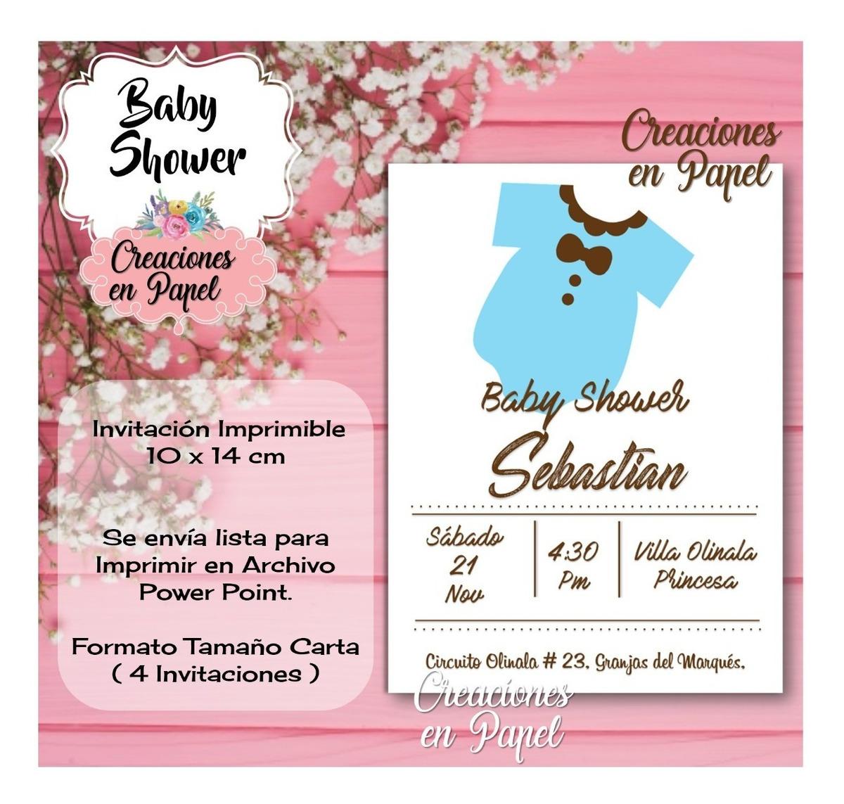 Invitación Babyshower Digital Listo Para Imprimir