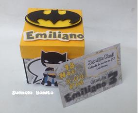 Invitación Batman Cumpleaños Infantil Caja Explosiva