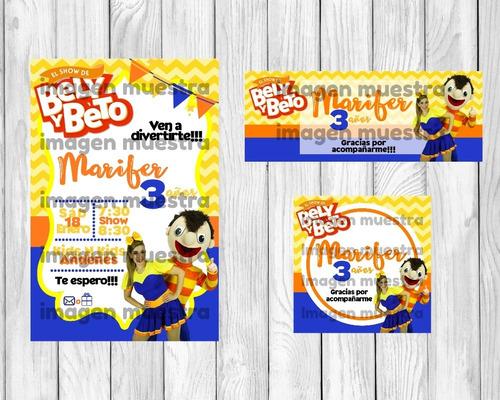 invitación bely y beto-kit imprimible personalizado +regalo