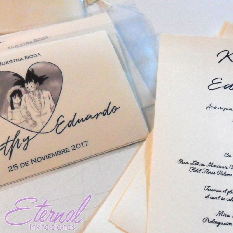 a22819698c234 Invitación Boda Dragon Ball Envio Gratis Eternal -   695.00 en ...