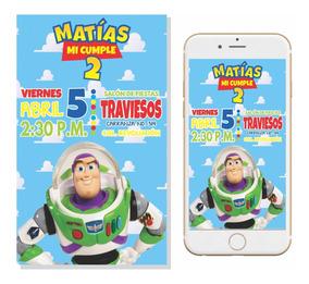 Invitación Buzz Lightyear Digital Imprimible Personalizada