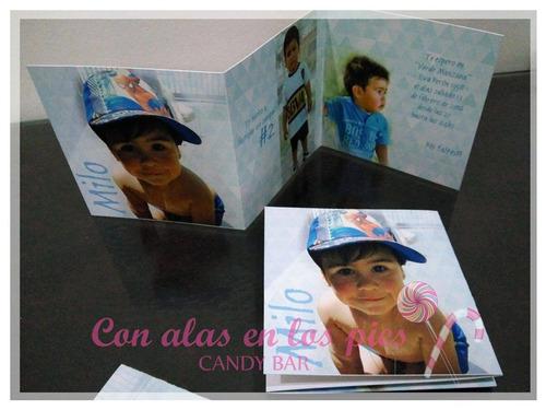 invitacion c/ fotos tarjeta cumpleaños - 100% personalizada