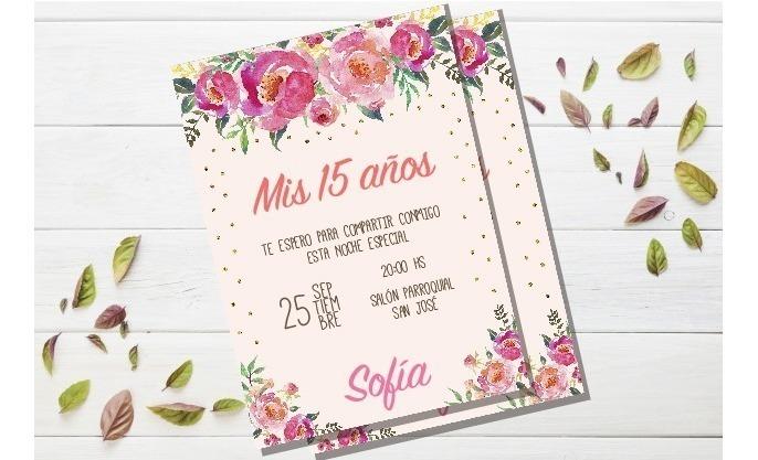 Invitacion Casamiento Tarjeta 15 Años Imprimible Editable