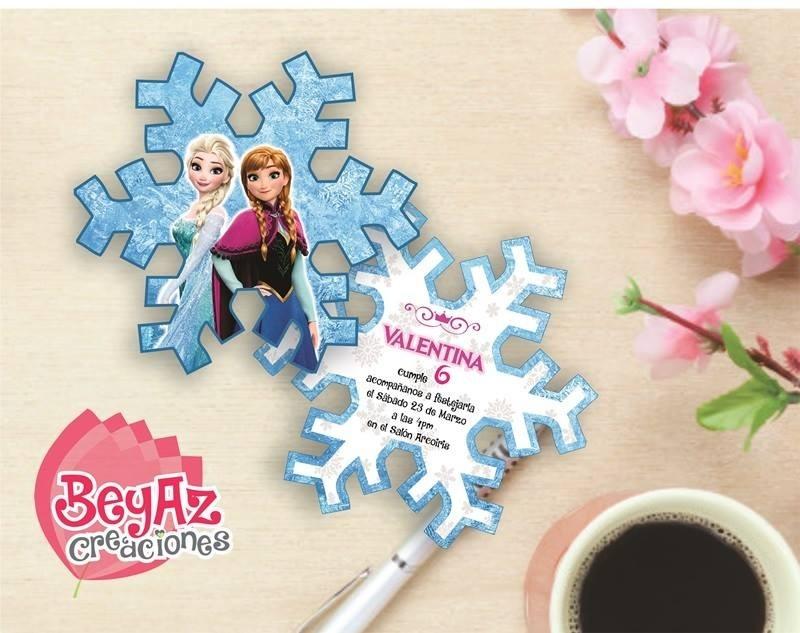 Invitación Copo De Nieve Para Imprimir 5500 En Mercado Libre