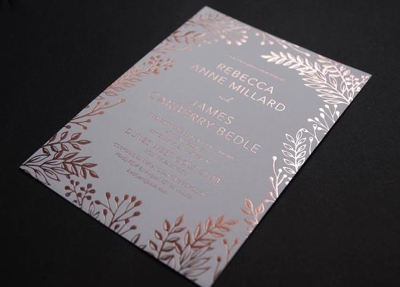 Invitacion Cumple 15 Años Letras Fucsia Brillante Stamping