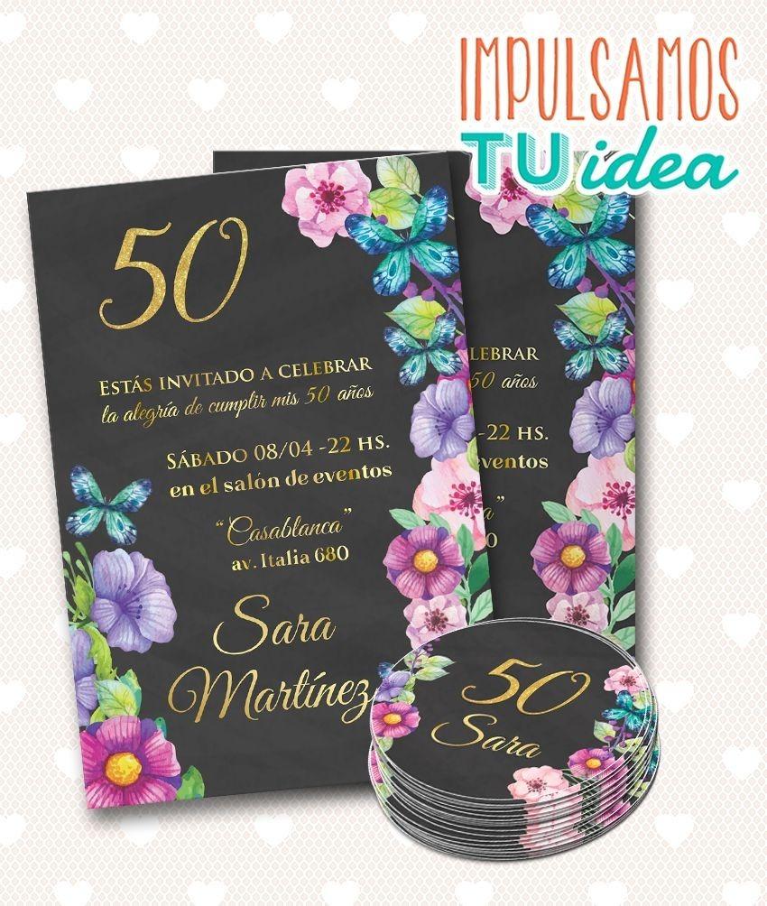 Invitación Cumple 50 Años Tarjeta 40 Años Para Imprimir