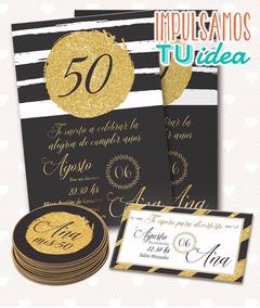 Invitación Cumple 50 Tarjeta Cumple 40 Imprimible