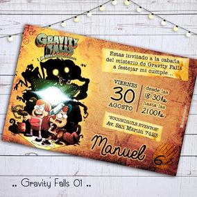 Invitacion Cumple Digital Imprimible Gravity Falls Dipper
