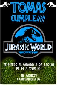Invitación Cumple Jurassic World