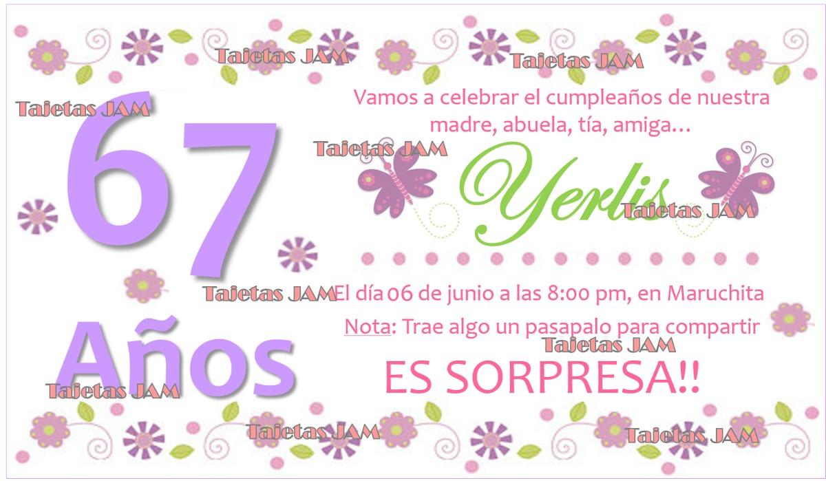 Invitación Cumpleaños Comunión Babyshower Bautizo Matrimonio