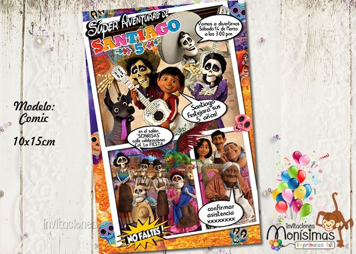 Invitacion Cumpleaños Con Fotomontaje