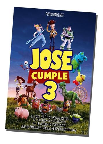 invitación cumpleaños digital e imprimible toy story 4