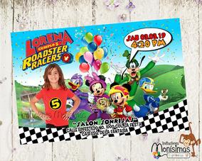 Invitacion Cumpleaños Fotomontaje Mickey