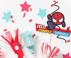 Invitación Cumpleaños Hombre Araña Candy Bar Decoracion