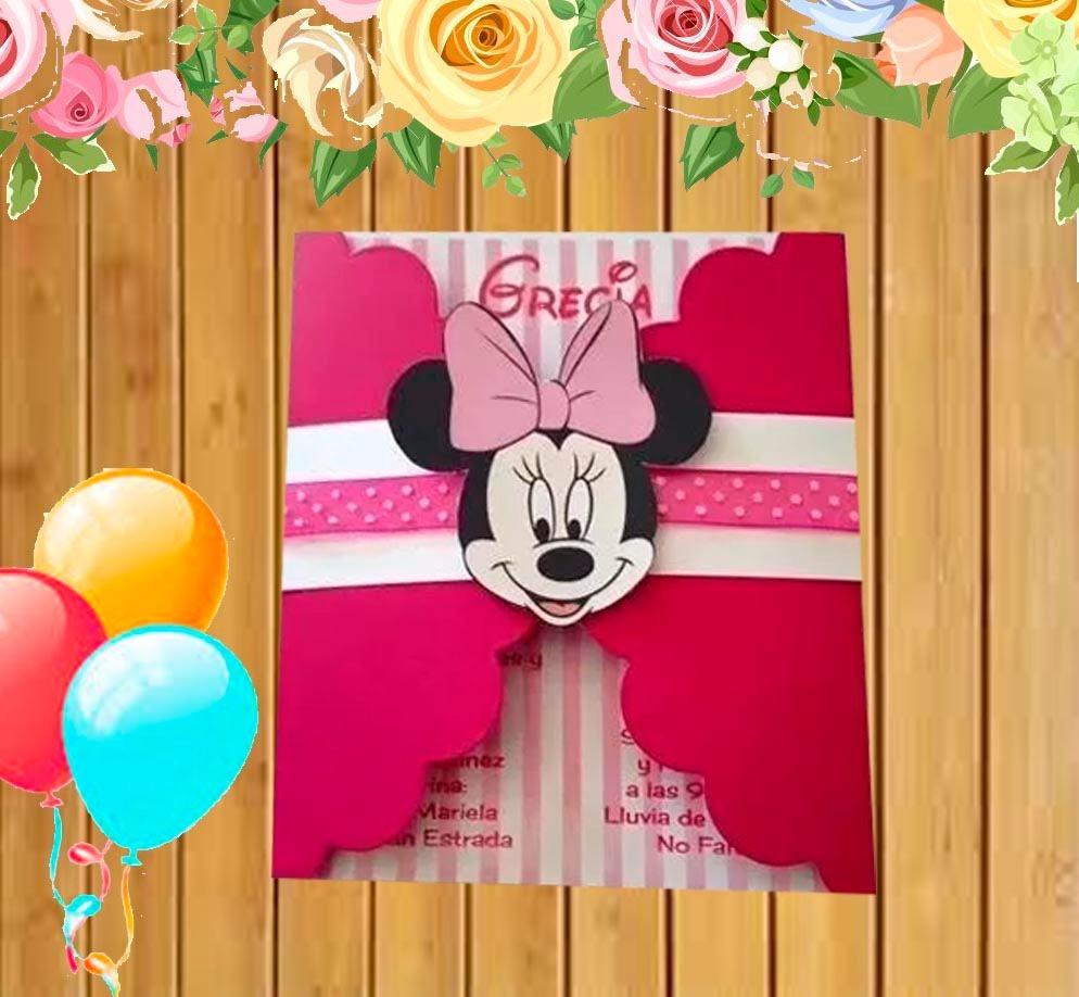 Invitación Cumpleaños Minnie Mouse