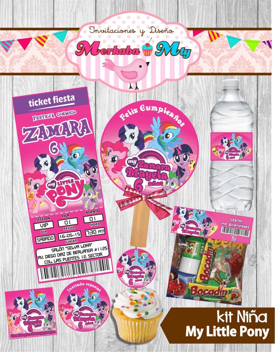Invitacion Cumpleaños My Little Pony Kit Imprimelo Tú