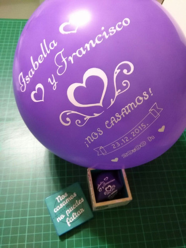 invitación de bodas globos