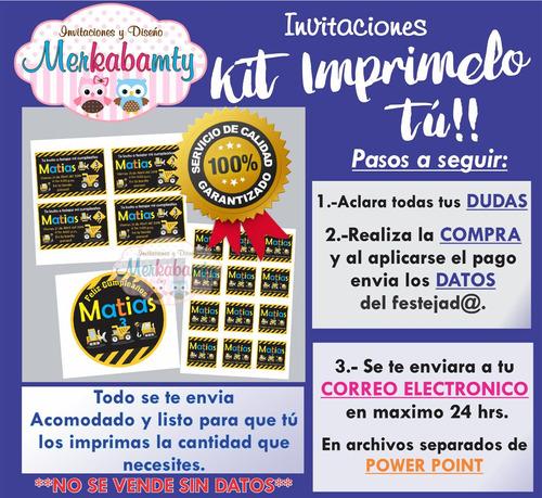 invitacion de construcción kit de cumpleaños imprimelo tú!