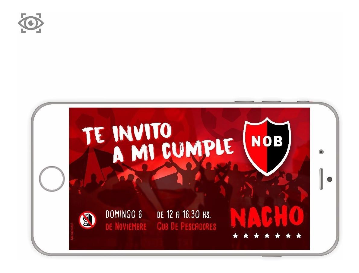 Invitación De Cumpleaños Virtual Futbol Newell S