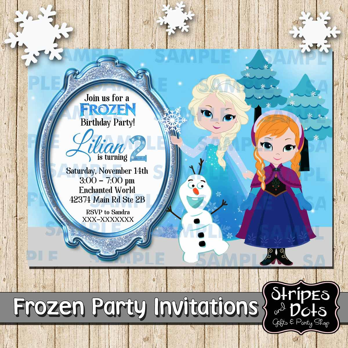 Invitación De Frozen,invitación De Elsa,frozen Party ...