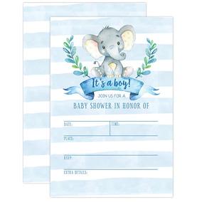 Invitación De Invitación De Boy Baby Shower Elefante Bab