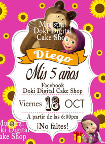 Invitación De Mini Video De Masha Y El Oso