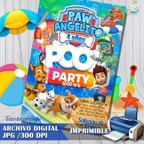 Invitacion De Paw Patrol Cumpleaños