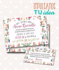Invitación De Quince Tarjeta De 15 Para Imprimir Anasí