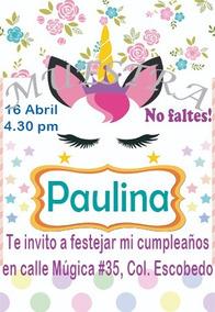 Invitacion Unicornio Para Cumpleanos Invitaciones Y