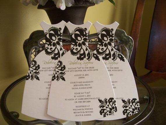 Invitaciones con vestido de novia