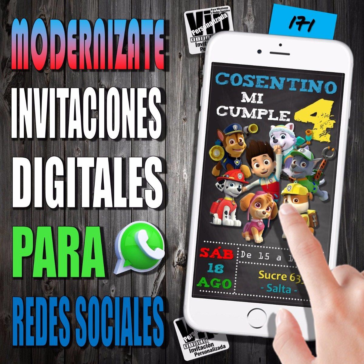 Invitacion Digital 171 Cumpleaño Patrulla Paw Patrol