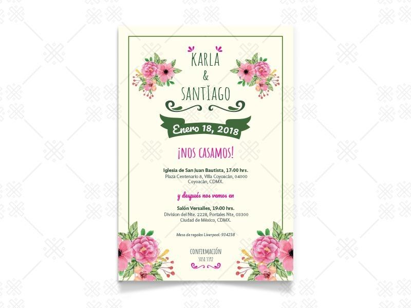 invitacion digital   20 impresas boda cumple baby shower