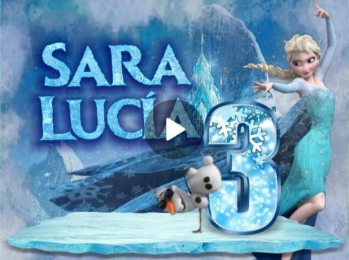 invitación digital animada frozen