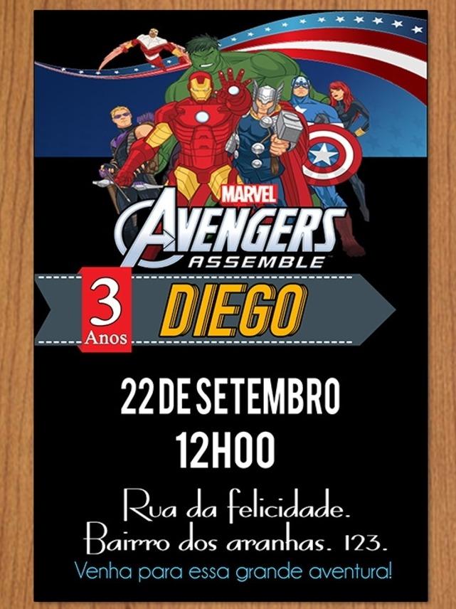 Invitación Digital Avengers Tarjeta De Cumpleaños Tortas